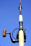 Haste de pesca e carretel spining Imagem de Stock Royalty Free