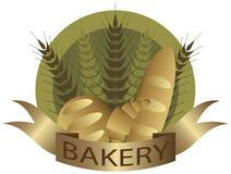 Haste do trigo da padaria e etiqueta do pão Fotografia de Stock