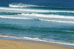 Haste e surfistas de pesca Fotografia de Stock Royalty Free