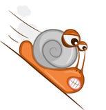 Hastening snail Stock Image