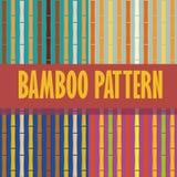 Hastes de bambu do teste padrão sem emenda verticais Fotografia de Stock
