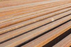 Hastes de ferro oxidadas Fotografia de Stock