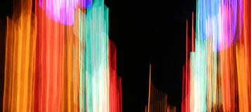 Hastes de néon Fotografia de Stock Royalty Free