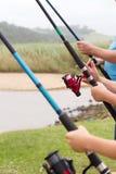 Hastes de pesca Fotos de Stock Royalty Free
