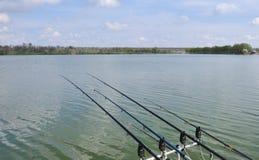 Hastes de pesca Imagens de Stock Royalty Free