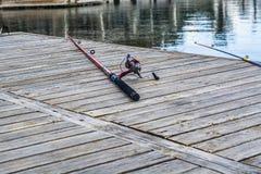 Hastes de pesca Tiro do close up Fotos de Stock