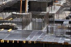 Hastes do concreto do canteiro de obras Imagem de Stock Royalty Free