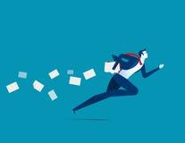 Hastiger Betrieb des Geschäftsmannes Konzeptgeschäftsillustration Vektor Lizenzfreies Stockfoto