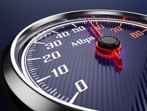 Hastighet av internetanslutning Arkivfoton