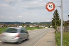 hastighet för 50 gräns Arkivbild