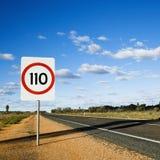 hastighet för Australien gränstecken Arkivbilder