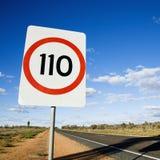 hastighet för Australien gränstecken Fotografering för Bildbyråer