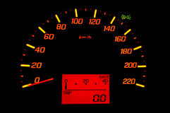 Hastighet för bilmått Arkivbild