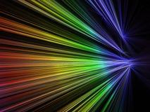 hastighet för färgfractalregnbåge stock illustrationer