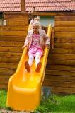 hastighet för glidbana för lekplats för spelrum för fritid för unge för utrustning för uppgiftspojkebarn Arkivbilder