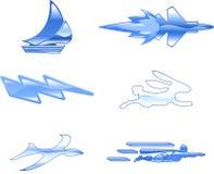hastighet för serie för designelementsymbol set Royaltyfria Bilder