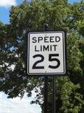 hastighet för tecken för 25 gränsmph Royaltyfri Bild