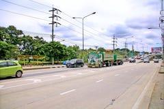 Hastighet i all hast på Km 1 Ramintra väg Royaltyfri Fotografi