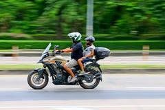 Hastighet i all hast på Km 1 Ramintra väg Royaltyfria Bilder