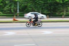 Hastighet i all hast på Km 1 Ramintra väg Royaltyfria Foton