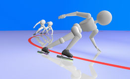 Hastighet som åker skridskor det korta spåret Fotografering för Bildbyråer