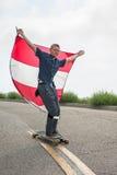 Hastighet som kontrolleras av vinden Royaltyfri Bild