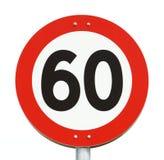 Hastighetsbegränsning 60 Arkivbilder
