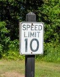 Hastighetsbegränsning 10 Royaltyfri Bild