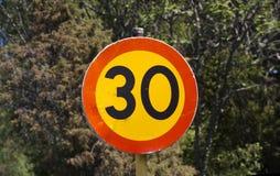 Hastighetsbegränsning Arkivfoton