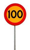 Hastighetsbegränsning 100 Arkivbilder