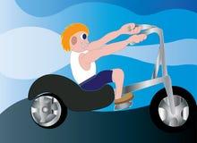 Hastighetscykel stock illustrationer