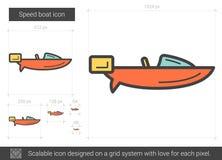 Hastighetsfartyglinje symbol stock illustrationer