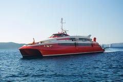 Hastighetsferryboat Arkivfoto