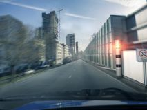 Hastighetskontroll i staden Royaltyfri Foto