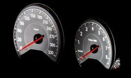 Hastighetskontrollinstrumentbräda Fotografering för Bildbyråer