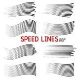 Hastighetslinjer isolerad uppsättning royaltyfri illustrationer