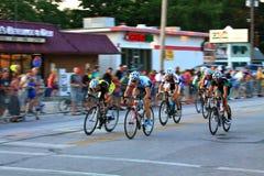 Hastighetslopp på cyklar Royaltyfria Bilder