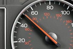 Hastighetsmätare på 50 MPH Royaltyfri Bild