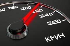 Hastighetsmätarecloseup Fotografering för Bildbyråer