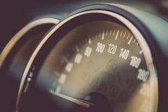 Hastighetsmätaredetalj Arkivbilder