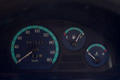 Hastighetsmätaregas och temperatur Royaltyfria Bilder