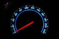 Hastighetsmätareinstrumentbräda av bilen Arkivbilder