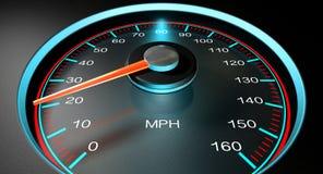 HastighetsmätareMPH saktar Royaltyfria Bilder