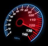 Hastighetsmätare Arkivfoto