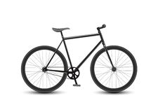 HastighetsRacing cykel på vit bakgrund Vektor Illustrationer