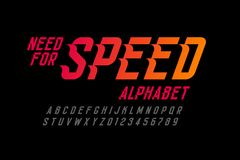 Hastighetsstilstilsort stock illustrationer