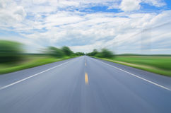 Hastighetsväg ingen gräns Royaltyfria Foton