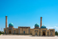 Hastimom Mosque in Tashkent, Uzbekistan. Hastimom beautiful mosque in a clear sunny day in Tashkent, Uzbekistan Royalty Free Stock Images
