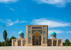 Hastimom Mosque in Tashkent, Uzbekistan. Hastimom beautiful mosque in a clear sunny day in Tashkent, Uzbekistan Royalty Free Stock Photos