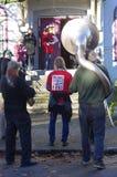 Hasting Street Band royalty free stock image